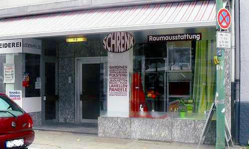 Ladenlokal Raumausstattung Schrenk